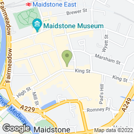 Map of Caffe Nero in Maidstone, kent