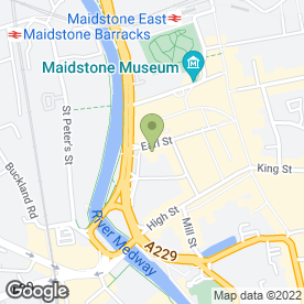 Map of Avis Rent A Car in Maidstone, kent