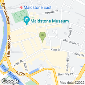 Map of Boots Opticians Ltd in Maidstone, kent