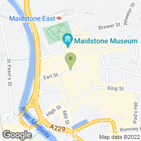 Map of Earls Public House in Maidstone, kent