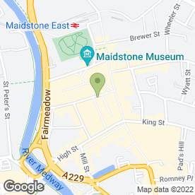 Map of Baldwins Travel Agency in Maidstone, kent