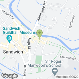 Map of Sandwich Auction Room in SANDWICH, kent