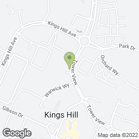 Map of ADT Fire & Security in Kings Hill, WEST MALLING, kent