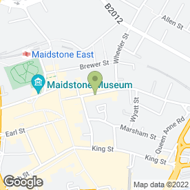 Map of DIRTI GERTIES in Maidstone, kent