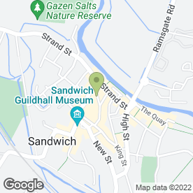 Map of Mansard Building in Sandwich, kent