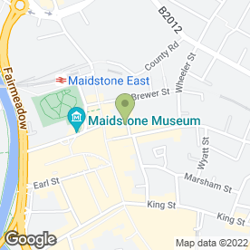 Map of Mid Kent Lettings in Maidstone, kent