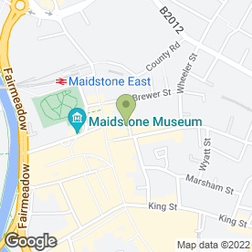 Map of New China Town in Maidstone, kent