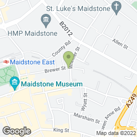 Map of The Eagle in MAIDSTONE, kent