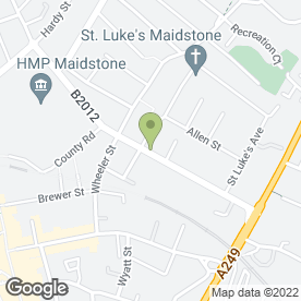 Map of Homeleigh Guest House in Maidstone, kent