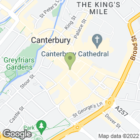 Map of Lloyds TSB Bank plc in Canterbury, kent