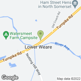 Map of The Lamb at Weare in Lower Weare, Axbridge, somerset