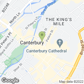 Map of Antoniou Hair & Beauty in Canterbury, kent