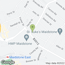 Map of Alphapet Veterinary Centre in Maidstone, kent