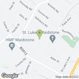Map of Hollies Mobile Hairdressing Service in Maidstone, kent