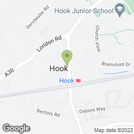Map of HOOKED ON HAIR in Hook, hampshire