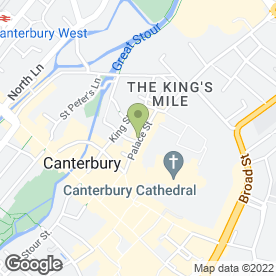 Map of The Bell & Crown in Canterbury, kent