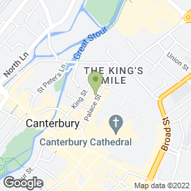 Map of Kashmir Tandoori Canterbury Ltd in Canterbury, kent
