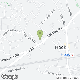 Map of Oaklea Guest House in Hook, hampshire