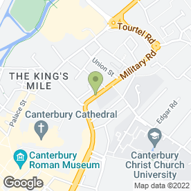 Map of Cantebury Judokwai in Canterbury, kent