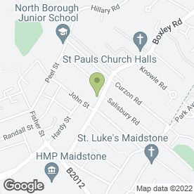 Map of Warner Pianos in Penenden Heath, Maidstone, kent