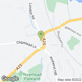 Map of BILLINGTON TRAVEL in Riverhead, Sevenoaks, kent