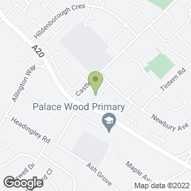 Map of Allington Clinic in Allington, Maidstone, kent