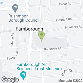 Map of Farnborough College Of Technology in Farnborough, hampshire