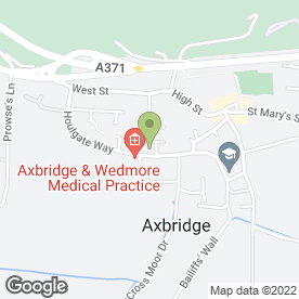 Map of Axbridge Surgery in Axbridge, somerset