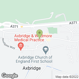 Map of Kelibe in Axbridge, somerset