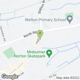 Map of Domino's Pizza in Midsomer Norton, Radstock, avon