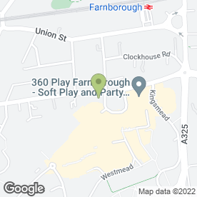 Map of The Bridal Centre in Farnborough, hampshire