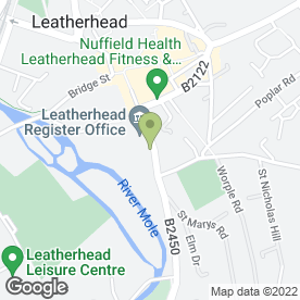Map of J Hutchinson (Fuels) Ltd in Leatherhead, surrey
