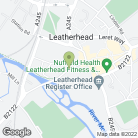 Map of Princess Alice Hospice Shops in Leatherhead, surrey