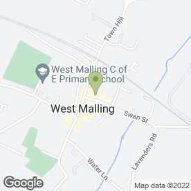 Map of A B Miller & Associates in West Malling, kent