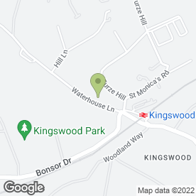 Map of Tudors in Kingswood, Tadworth, surrey