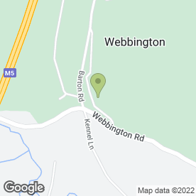 Map of The Webbington Leisure Club in Loxton, Axbridge, somerset