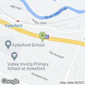 Map of CAREFREE DRIVING SERVICES LTD in Aylesford, kent