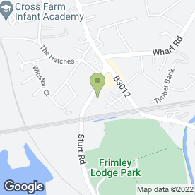 Map of Melia Mumford in Frimley Green, Camberley, surrey