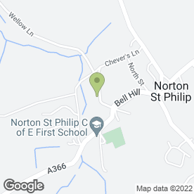 Map of Barton Manor in Norton St. Philip, Bath, avon