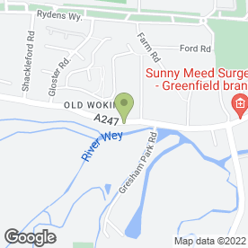 Map of The Crown & Anchor in Old Woking, Woking, surrey