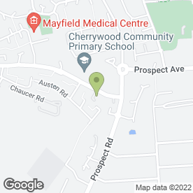 Map of Cherrywood Community Childcare in Farnborough, hampshire