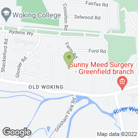 Map of R S Property Care Services in Woking, surrey