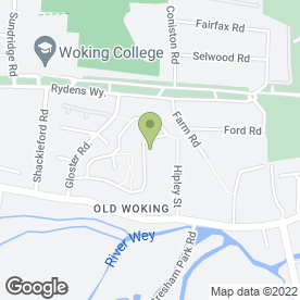 Map of Beaute in Old Woking, Woking, surrey
