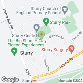 Map of City School Of Motoring in Sturry, Canterbury, kent