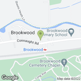 Map of Wesson Fencing in Brookwood, Woking, surrey