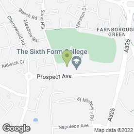 Map of OAKLANDS DAY NURSERY (UK) in Farnborough, hampshire