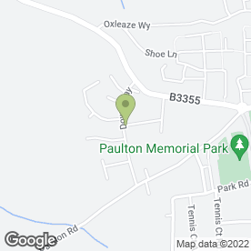 Map of Business Communications in Paulton, Bristol, avon