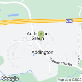 Map of The Angel Inn in Addington, West Malling, kent