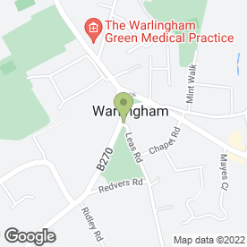 Map of Delta Tool Hire Limited in Warlingham, surrey