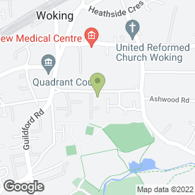 Map of Local Garden Services in Woking, surrey